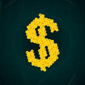Honey dollar — Stock Vector