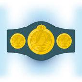 Championship belt — Stock Vector