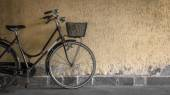 Black bicycle — Stock Photo
