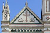 Architectural detail of the church of Santa Croce in the historical center of Florence — Stock Photo