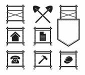 Set of Scaffolding Icons for web site, EPS10 — Stok Vektör