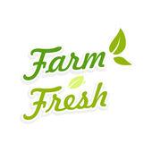 Logotype Farm Fresh — Stock Vector