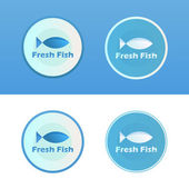 Icons of Fish with caption — Stock Vector