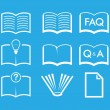 Set of Book icons — Stock Vector #68140293