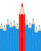 La matita rossa — Foto Stock