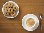 Espresso z ciasteczkami — Zdjęcie stockowe