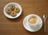 Espresso with cookies — Stock Photo