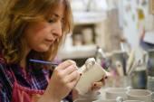 Pottery artist — Stock Photo