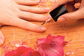 Nail polish at spa — Stock Photo