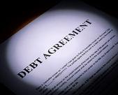 Debt  Agreement on paper — Stockfoto