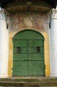 Porta principal da Catedral Ortodoxa — Fotografia Stock