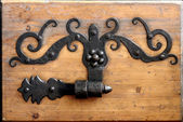 Ornate doorhinge — Foto Stock