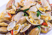 Stir fried clams — Stock Photo