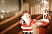 Cute toy Santa Claus. — Foto Stock