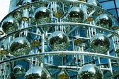 Disco balls background with mirror balls — Stock Photo