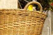 Handmade basket made from bamboo — Stock Photo