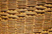 Handmade basket made from bamboo — Stock Photo