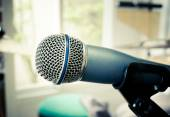 Microphone in music room — Stock Photo