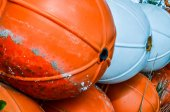 Close up of buoy on the beach — Stock Photo
