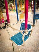 Amusement park facilities. Carousel — Stock Photo