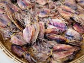 Dried squid for sale — Стоковое фото