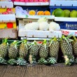 Market stall with variety of fresh fruits — Stock Photo #75639511