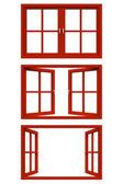 Red window frame — Foto de Stock