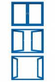 Blue window frame — Stock Photo