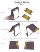 Folderu i wyświetlanie — Wektor stockowy