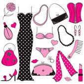 Ladies fashion set — Stock Vector
