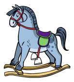 Funny vector cartoon colorfull horse. Vector illustration — ストックベクタ