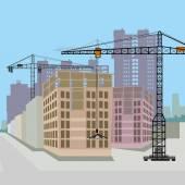City building. vector illustration — Stock Vector