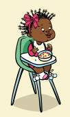 Funny vector cartoon colorfull black baby. Vector illustration — Stock Vector