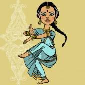 Indian woman. vector illustration — Stock Vector