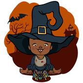 Vector illustration of Halloween monster costume — Stock Vector