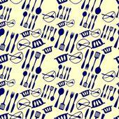 Kitchen items pattern — Vecteur