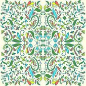 Colored floral pattern vector — Stock Vector