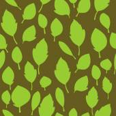 Green leaves pattern — Stock Vector