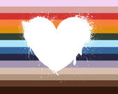 Watercolor white heart — Stock Vector