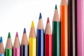 Närbild av multicolor pennor — Stockfoto