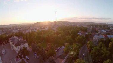 Lviv  - Aerial View — Stock Video
