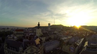 Lviv  - Aerial View — Vídeo de Stock
