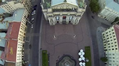 Lviv Opera Theatre - Aerial View — Wideo stockowe