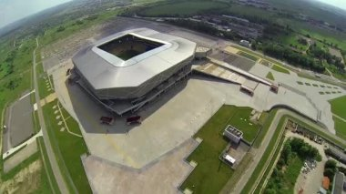 Stadium Arena - Lviv  - Aerial View — Vídeo de Stock