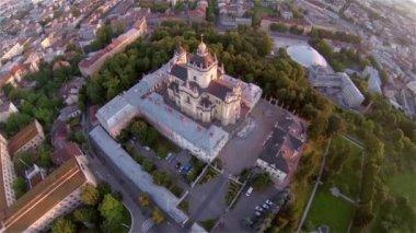 St George Church Lviv - Aerial View — Stock Video