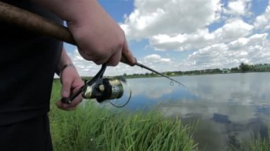 Fishing coil — Stock Video