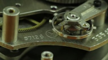 Clock mechanism macro — Vídeo de Stock