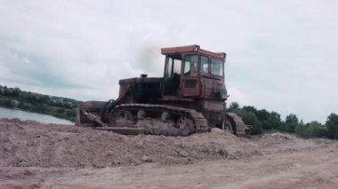 Bulldozer Quarrying — Vídeo de Stock