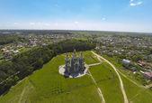 Iglesia vista aérea — Foto de Stock