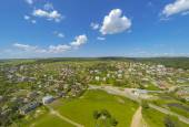 Village Aerial View — Stock Photo